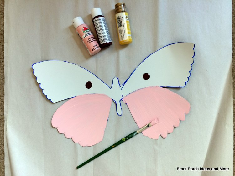 paint a metal butterfly