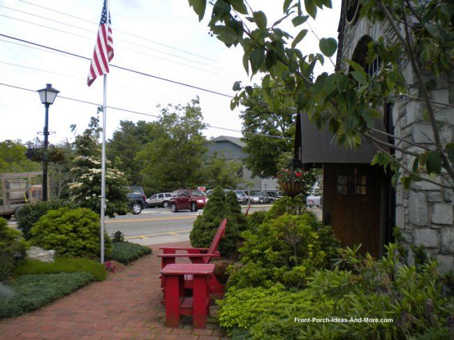 downtown Blowing Rock NC porch