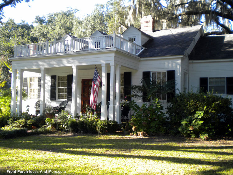 Marvelous beautiful front porch with a flat porch roof