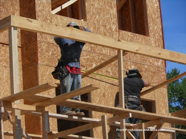Marking the carry beam to accept roof trusses
