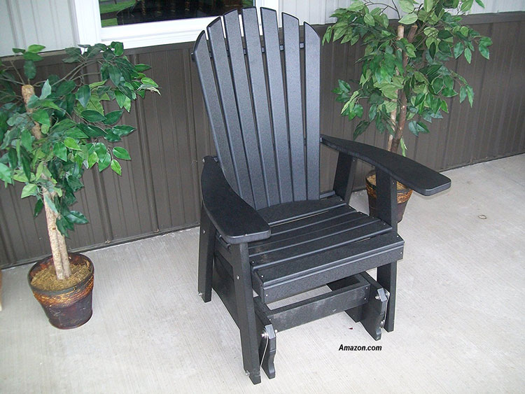 polywood glider chair in black