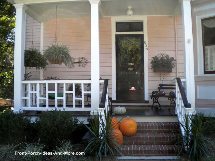 square front porch railing design