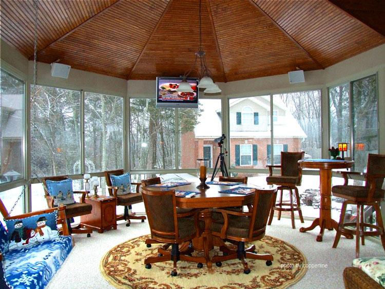 sunroom addition to contemporary home