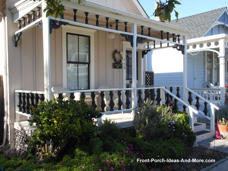 colorful turned porch balusters