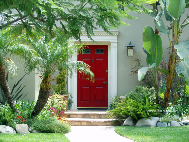 Beautiful red exterior front door