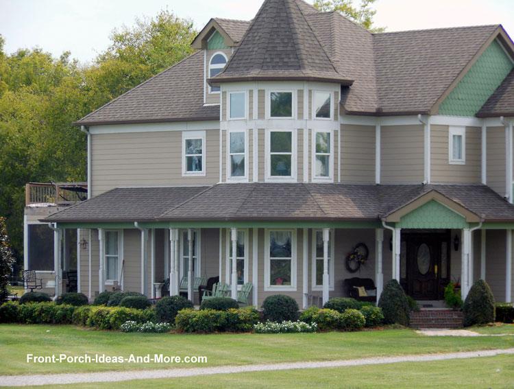 contemporary farm house wrap around country porch