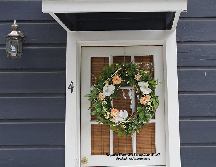 Magnolia Bloom Silk Spring Door Wreath from Amazon.com