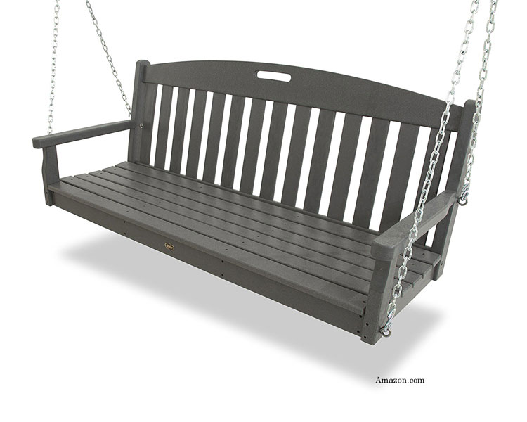 Trex durable HDPE lumber porch swing from amazon.com