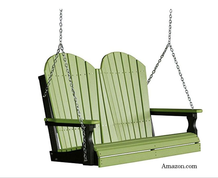 green polywood adirondack swing from Amazon.com