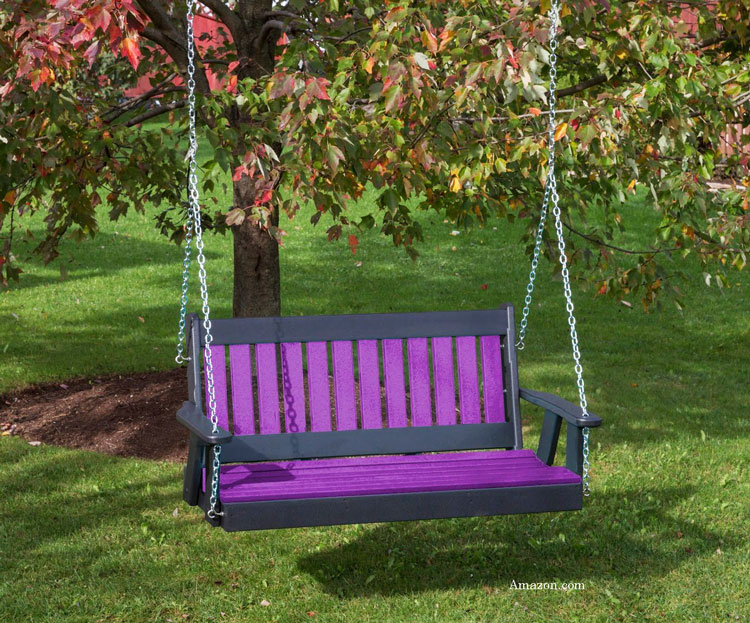 Highland Lehigh polywood porch swing from amazon.com