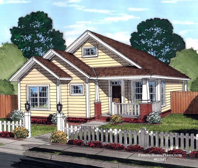 adorable cottage home plan with quaint front porch with craftsman style porch columns