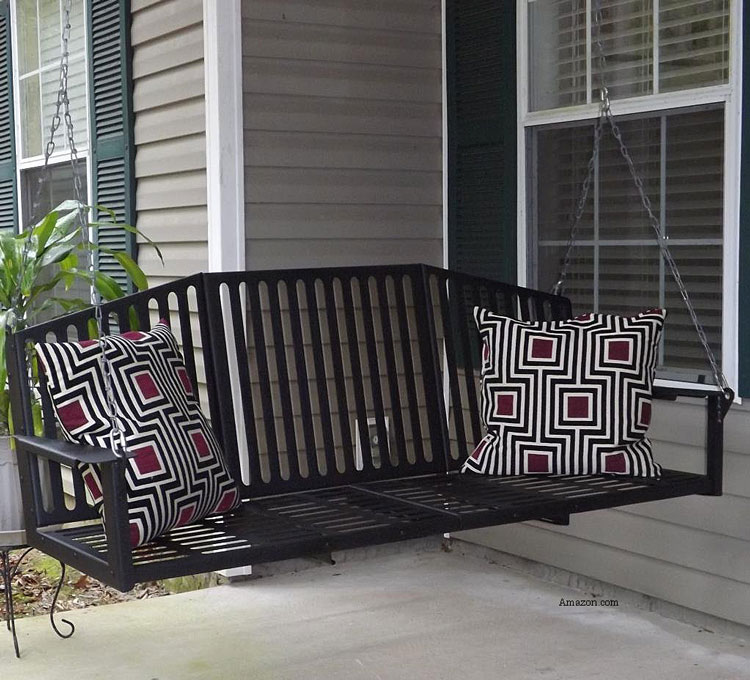 M.A.D. Metal Works Tree of Life 5Ft Metal Porch Swing from Amazon