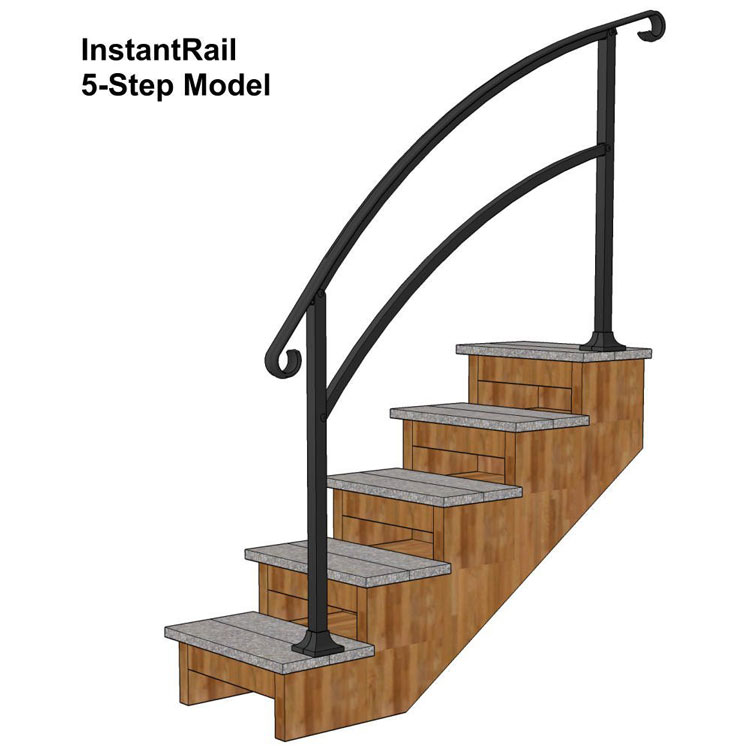 instant rails for deck steps from Amazon