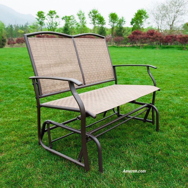 Naturefun Patio Swing Glider Bench Chair from Amazon