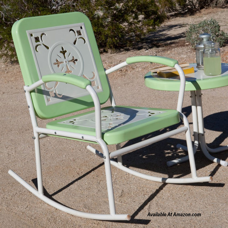 nostalgic retro rocking chair available at Amazon.com