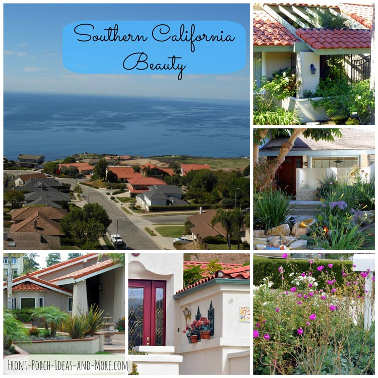 collage of Rancho Palos Verde porches