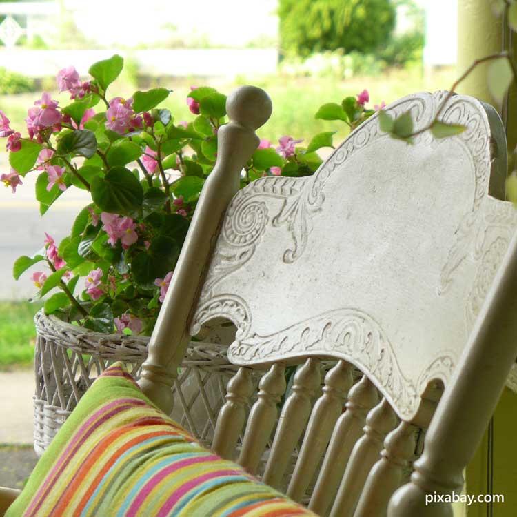 pretty summer front porch