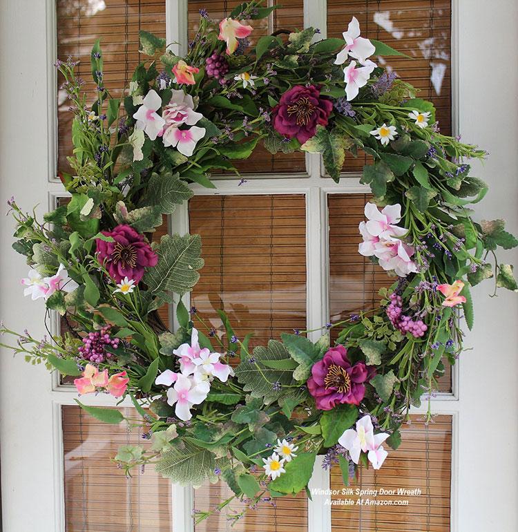 Windsor Silk Spring Door Wreath from Amazon.com