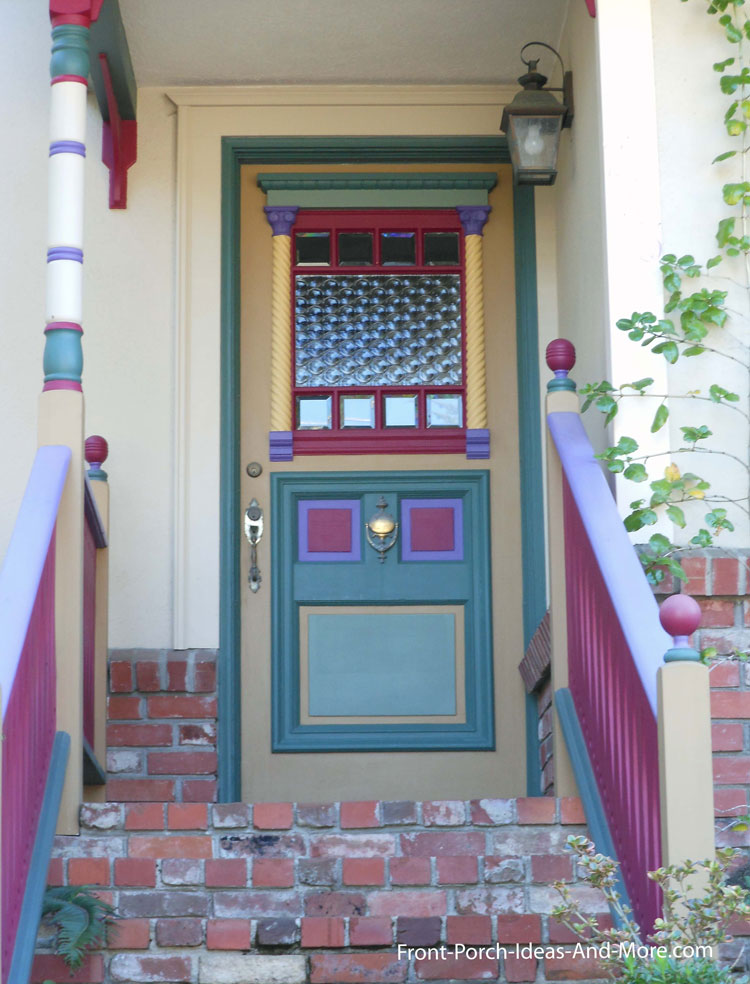 exquisitely painted exterior front door