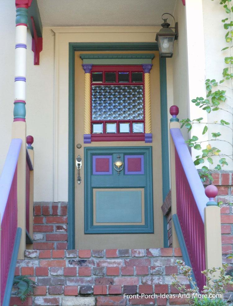 exquisitely painted exterior front door