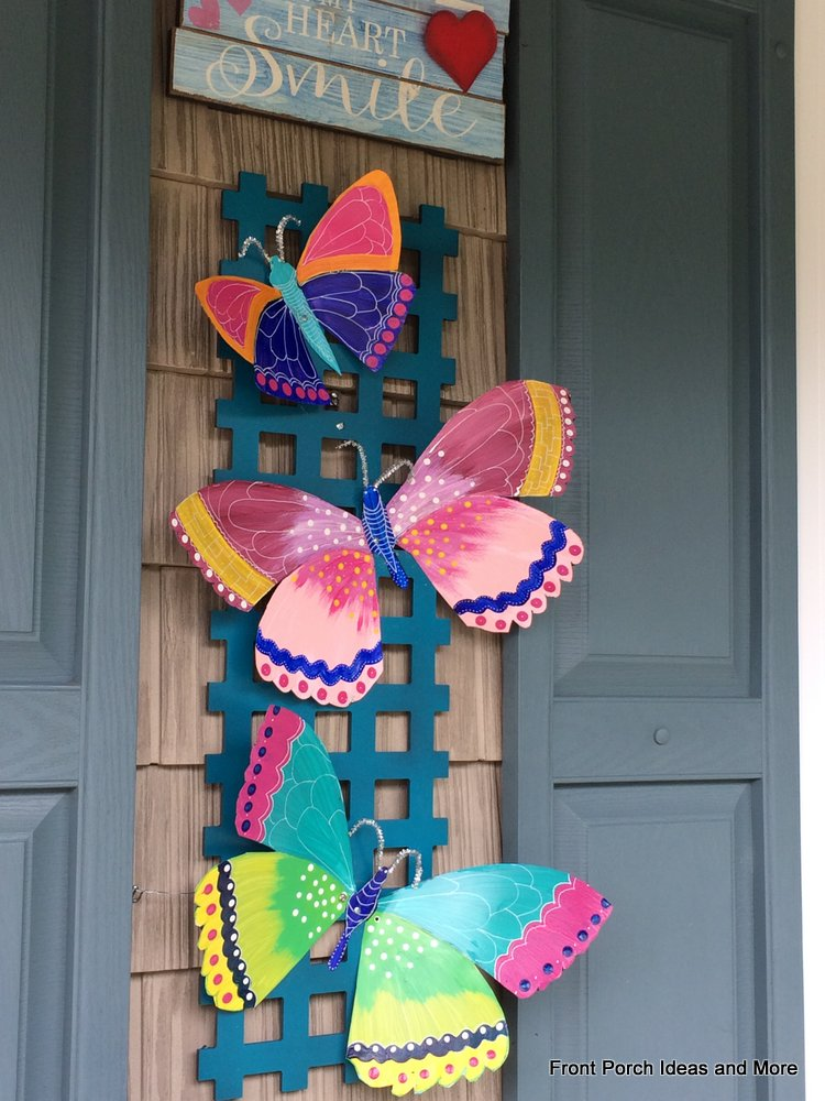 butterfly wall art for our porch