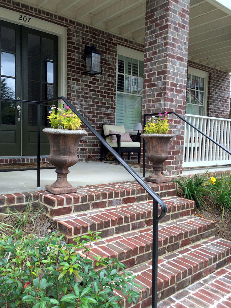 DIY metal porch handrail from Amazon
