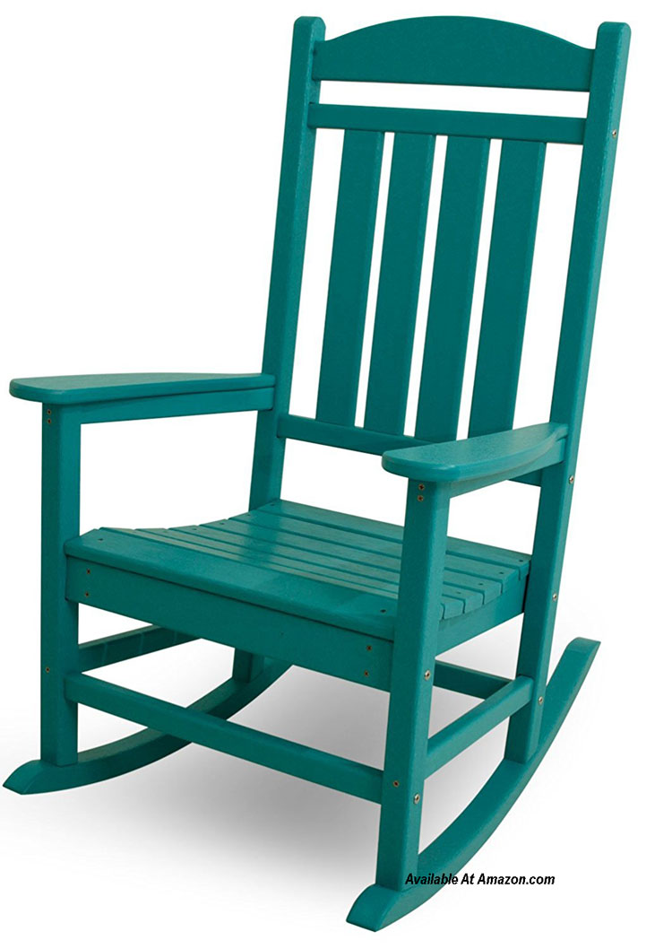 green polywood rocking chair available at Amazon.com