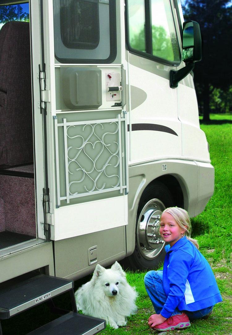 Camco 43991 Aluminum Screen Door Deluxe Grille for RVs