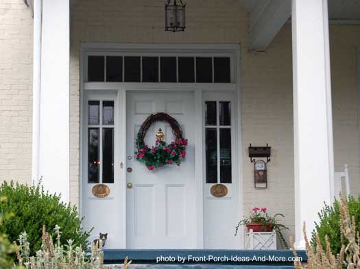 pretty wreath on front door