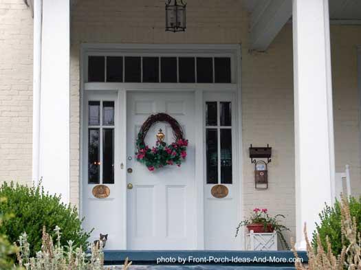 pretty wreath on front door