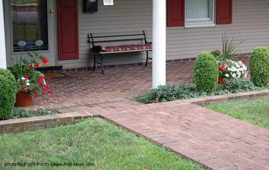 Brick Porch Floor