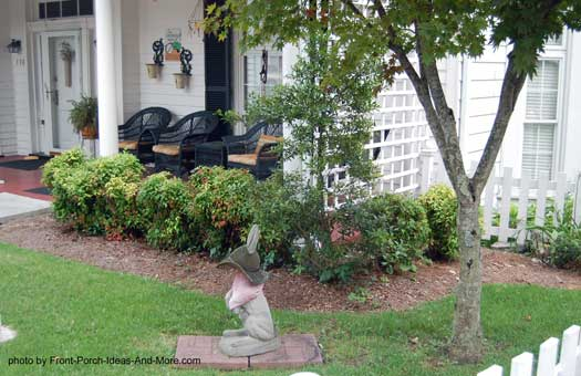 Narrow Entryway Landscaping : Privacy porch front ideas pictures