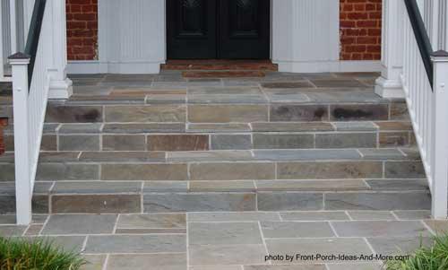 slate front porch steps