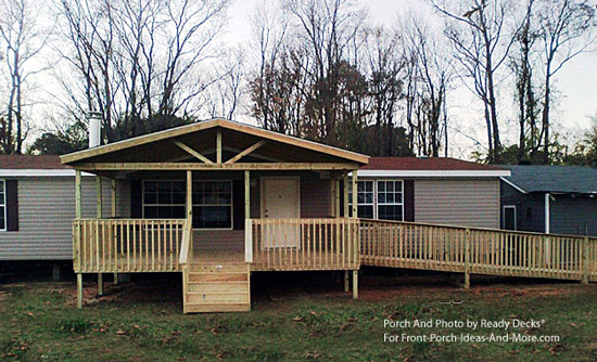 Porch designs for mobile homes mobile home porches for Single wide mobile homes with front porches