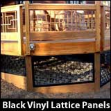 Custom vinyl lattice panels in many colors!