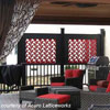 red custom vinyl lattice privacy panel