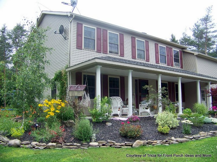 Landscaping Ideas For A House With A Front Porch : Add a porch front addition construction
