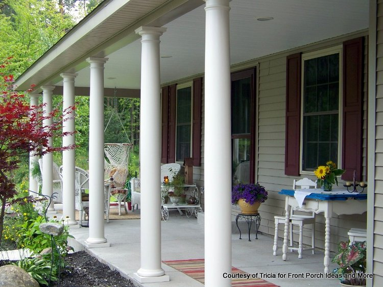 front porch with tuscan columns