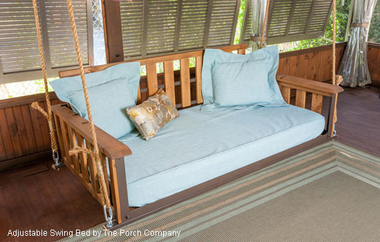 One of The Porch Company's beautiful swing beds