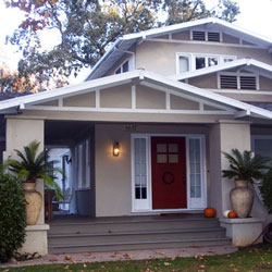 airplane craftsman style bungalow with massive front columns