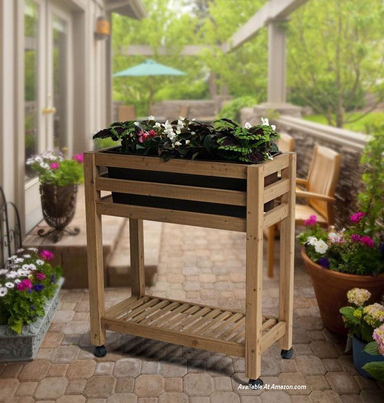 Algreen 32102 Ergogarden Elevated Garden Bed System  from amazon.com