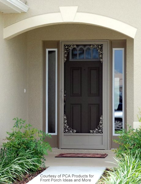 use your aluminum screen door to maximize curb appeal
