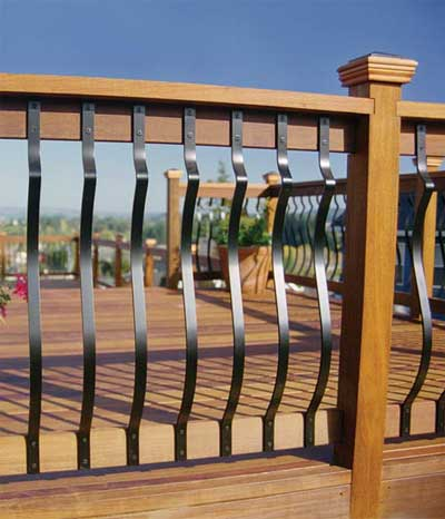 Pics for front step railing ideas for Front balcony railing