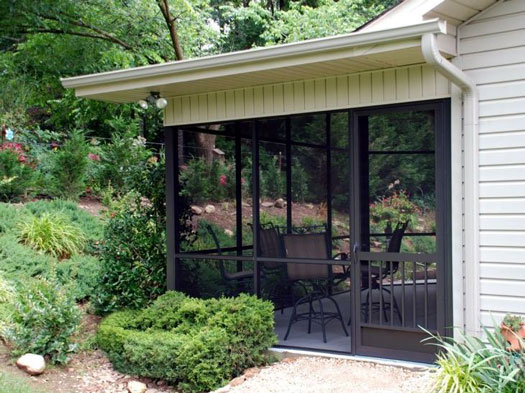 PCA Products exterior screen door on screened porch