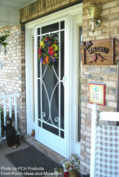 custom designed front aluminum screen door