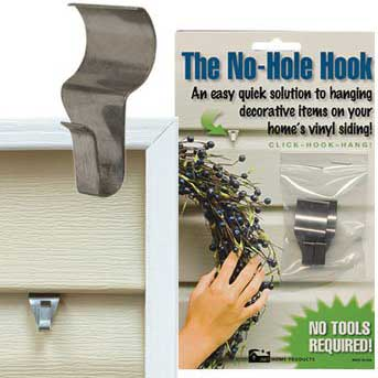 No hole hook for vinyl siding