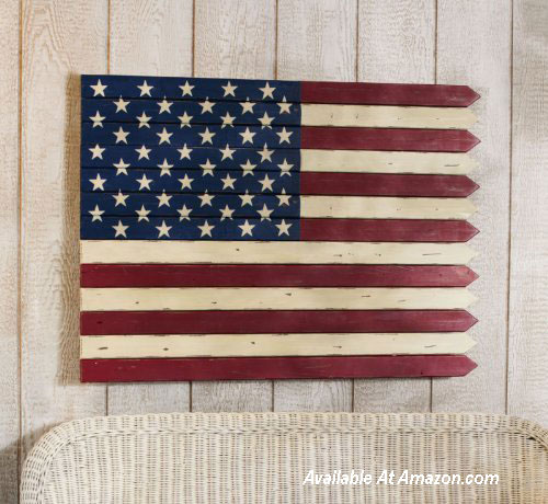 American flag made from pickets on Amazon