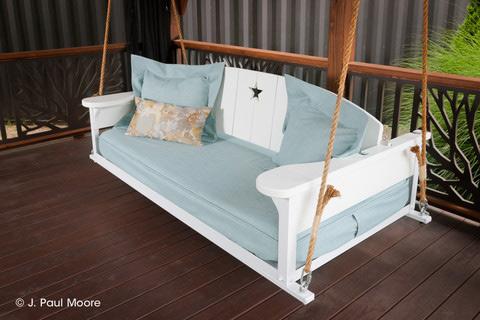 comfortable porch swing