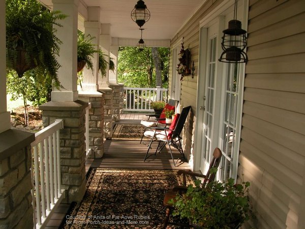 Anita's NC mountain home - lovely porch!
