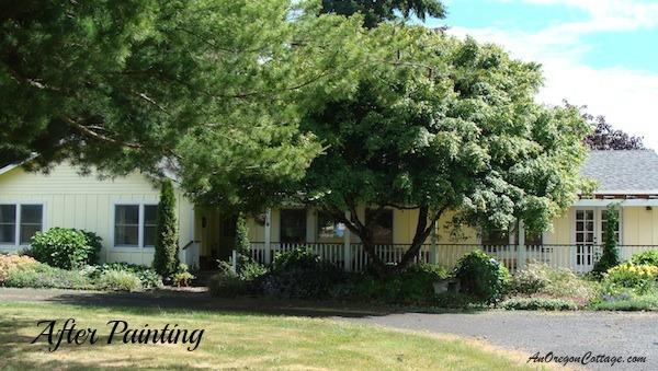 Jami's home painted sunshine yellow